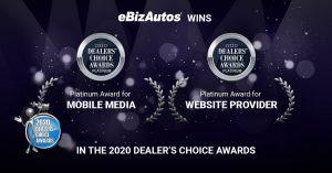 eBizAutos Wins a Duo of 2020 Dealers' Choice Awards!